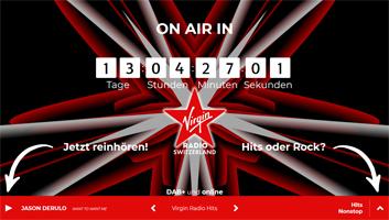 03.01.18 – Testprogramme von Virgin Radio Switzerland bereits on Air (www.dab-swiss.ch)
